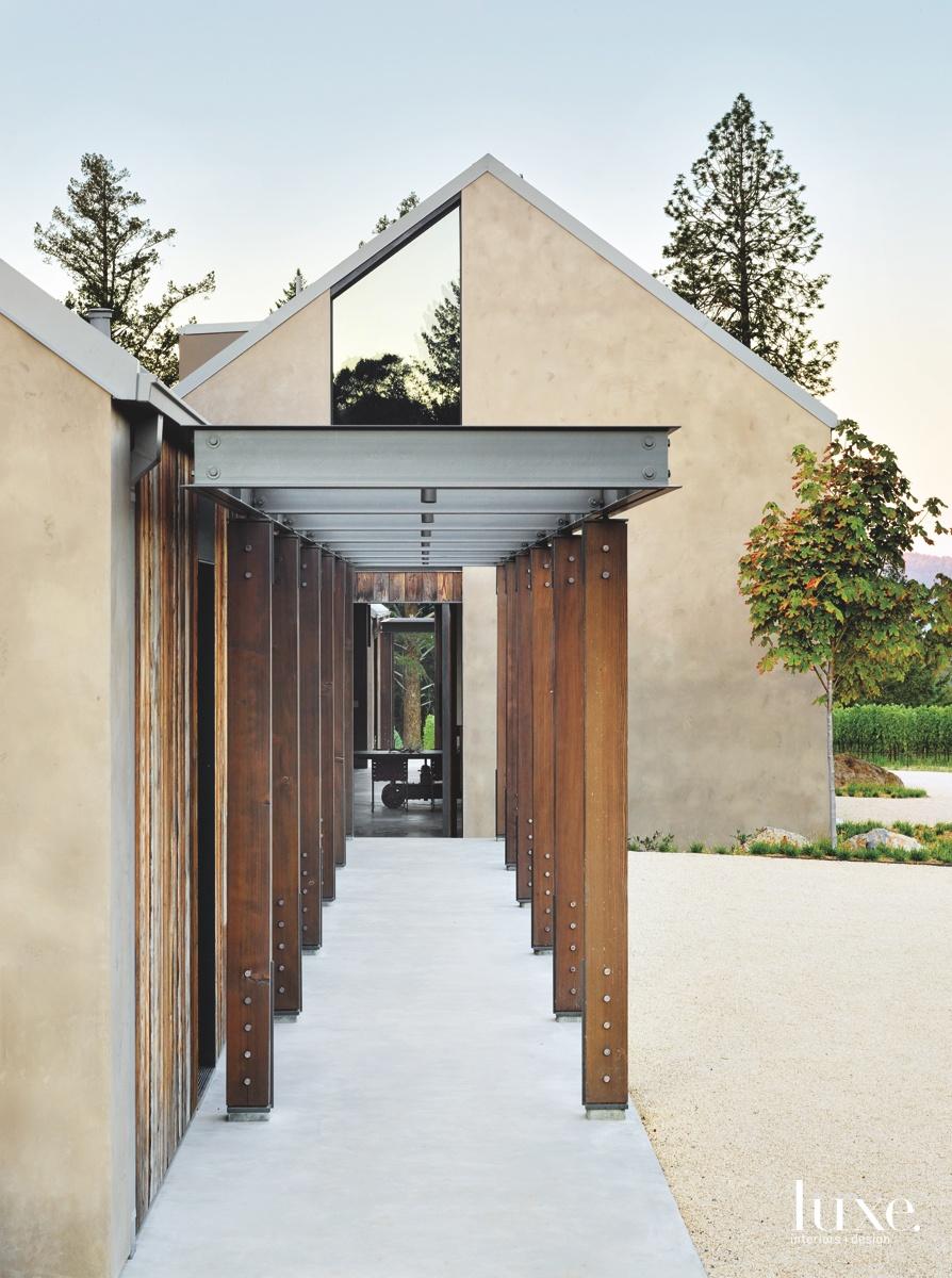 modern exterior breezeway creamy texture
