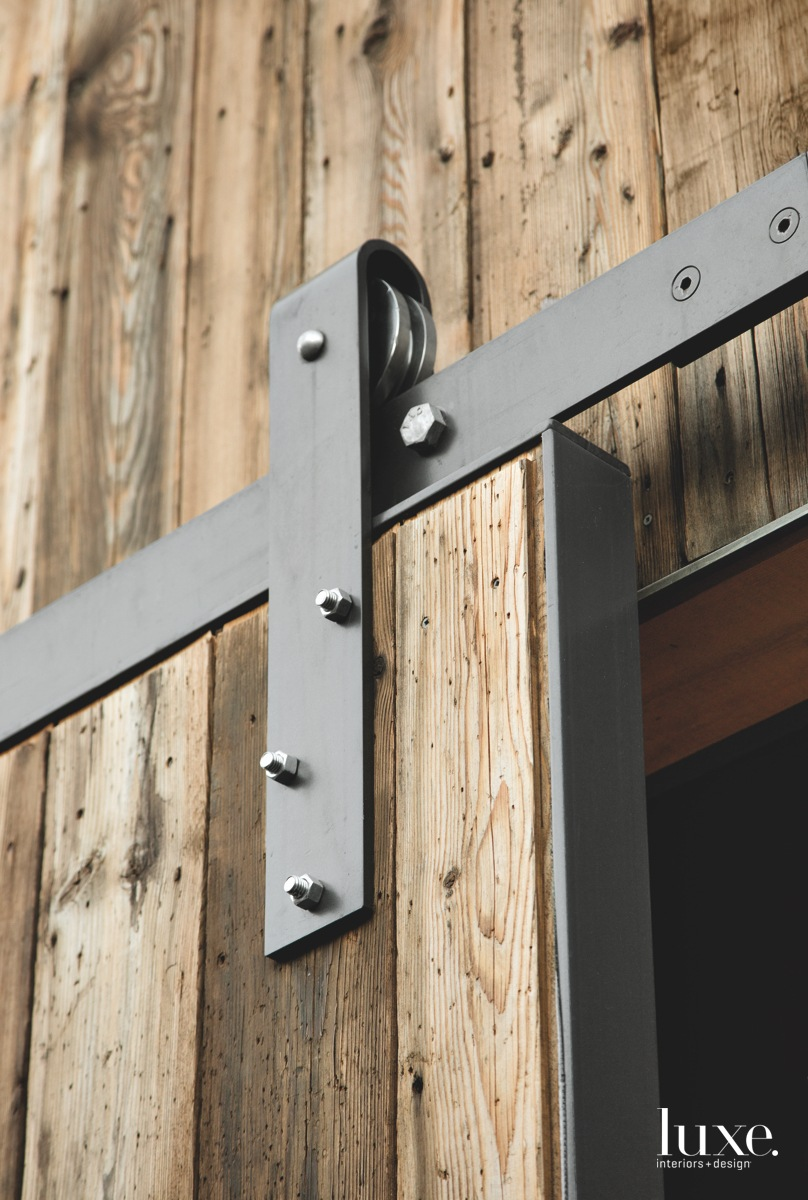 modern metal tracks barn doors