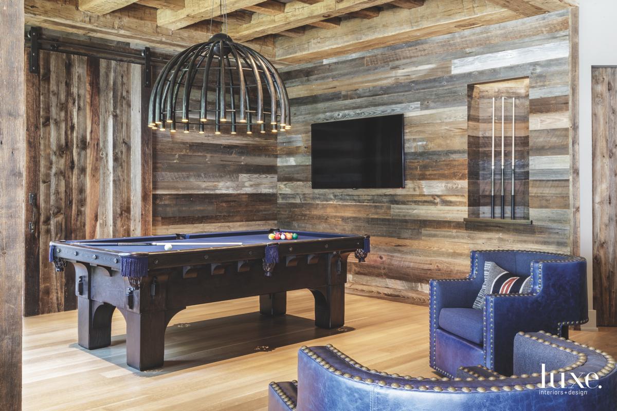 contemporary game room living area...