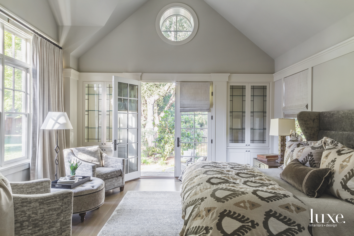 contemporary neutral bedroom wing bed