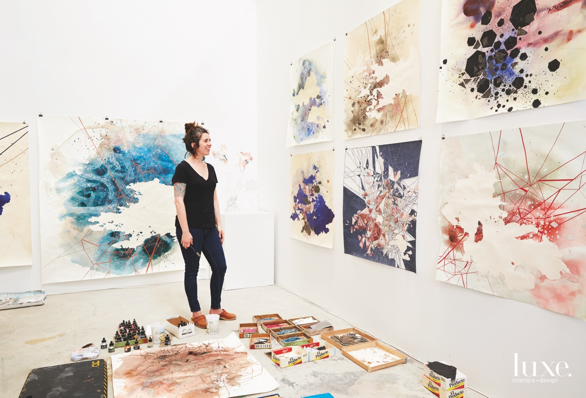 Val Britton Charts Her Own Path With Map-Inspired Art