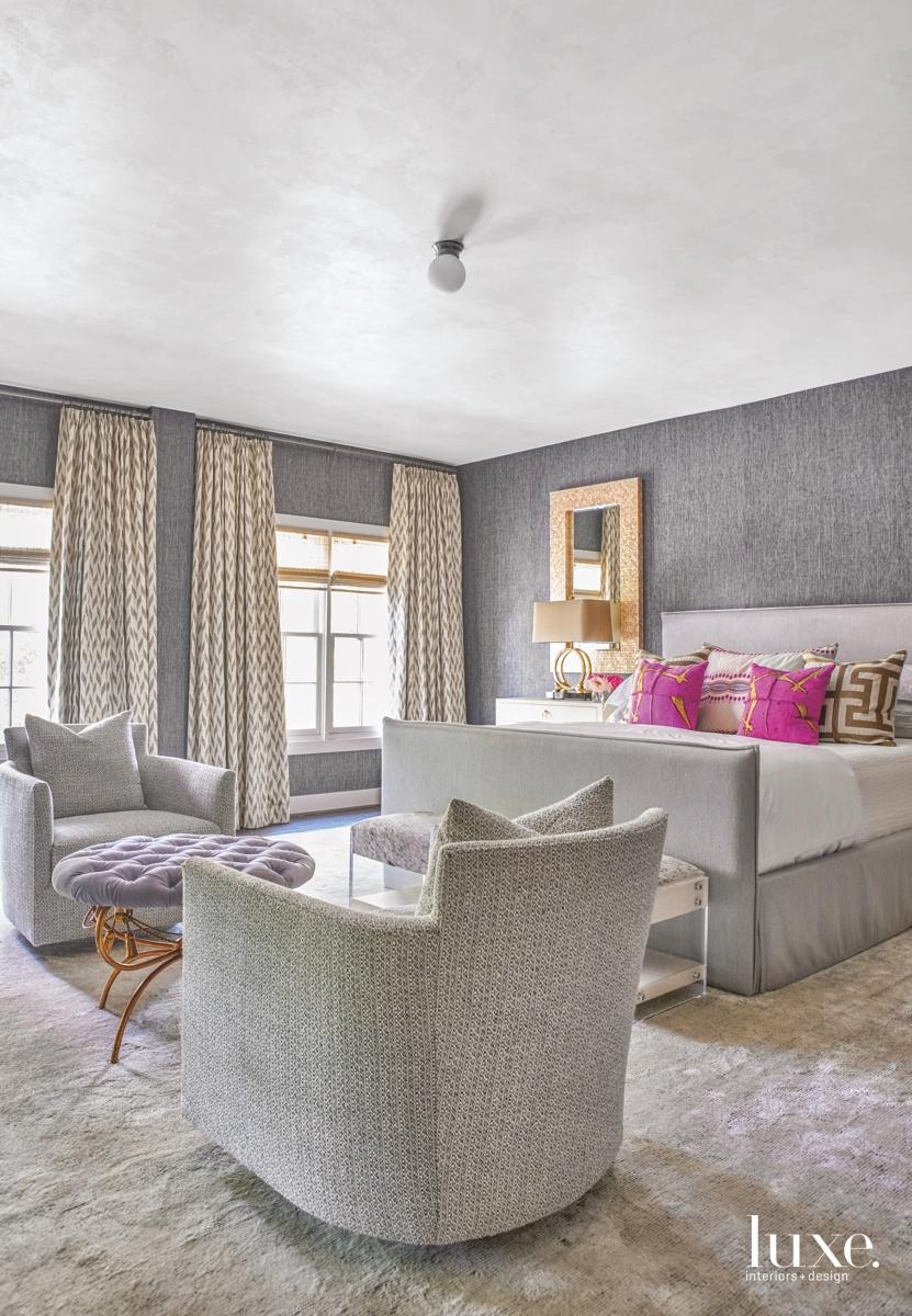 The master bedroom's Phillip Jeffries...