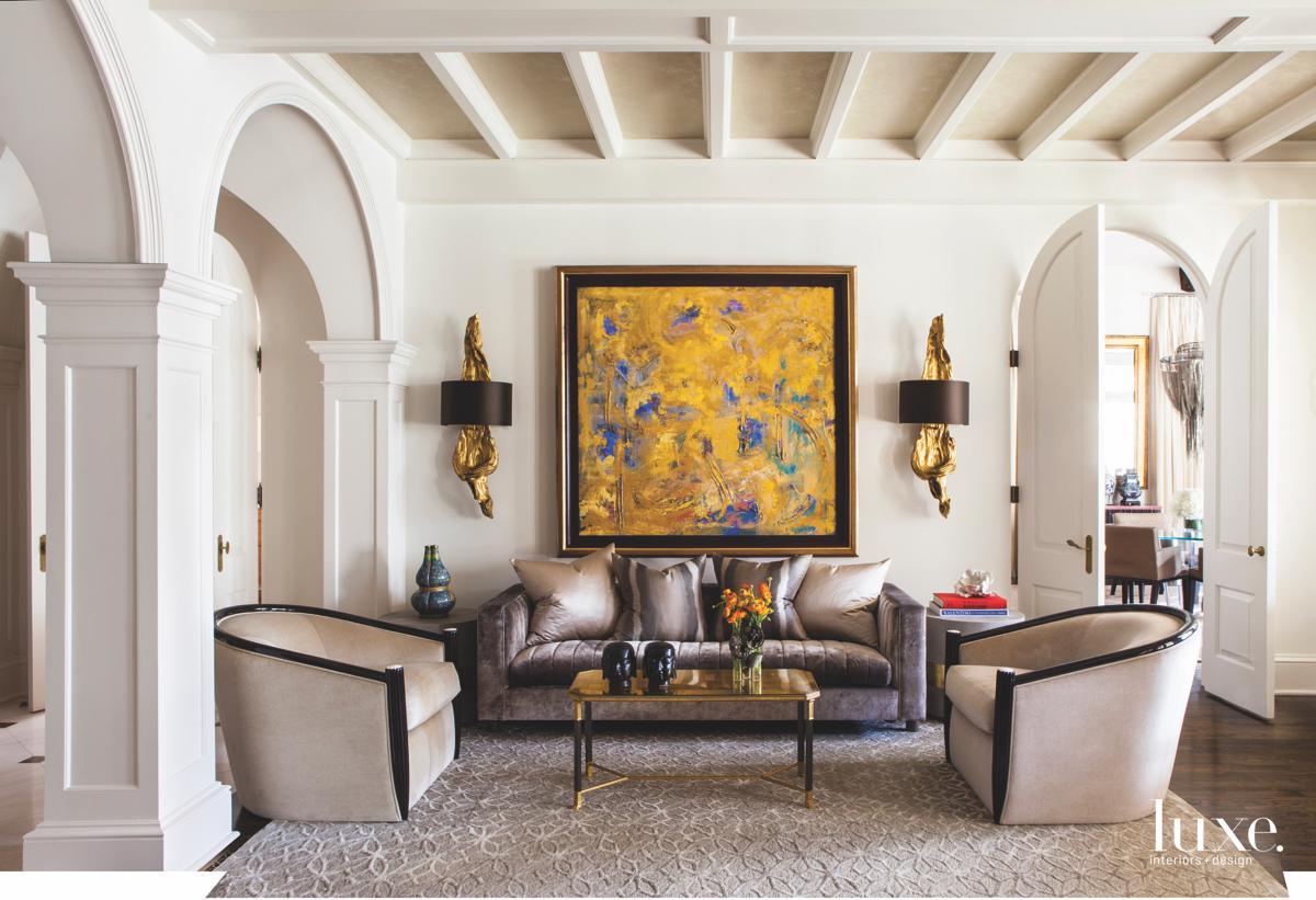 eclectic living room neutral tones...