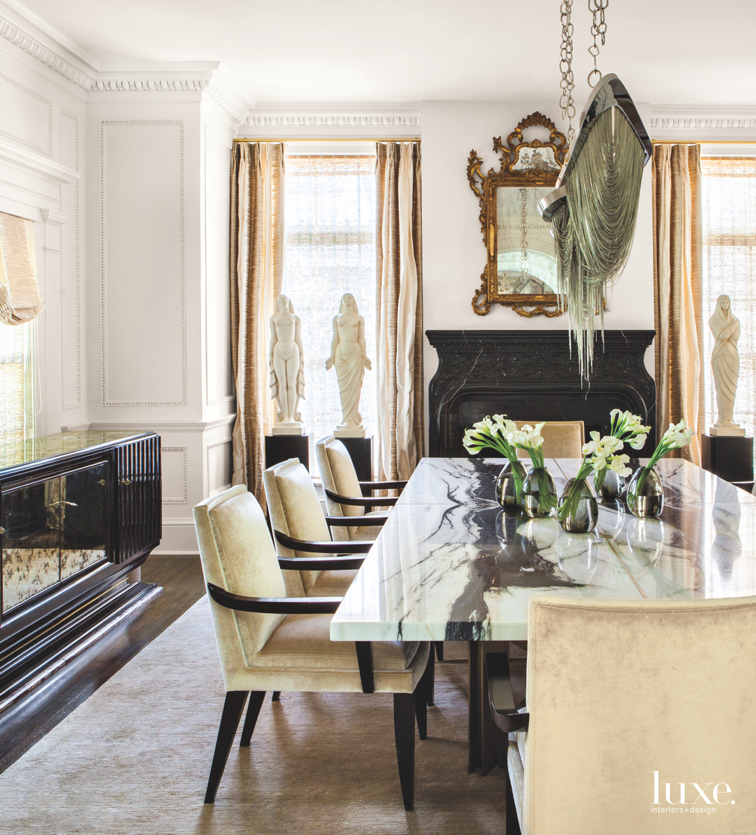 eclectic dining room black and...
