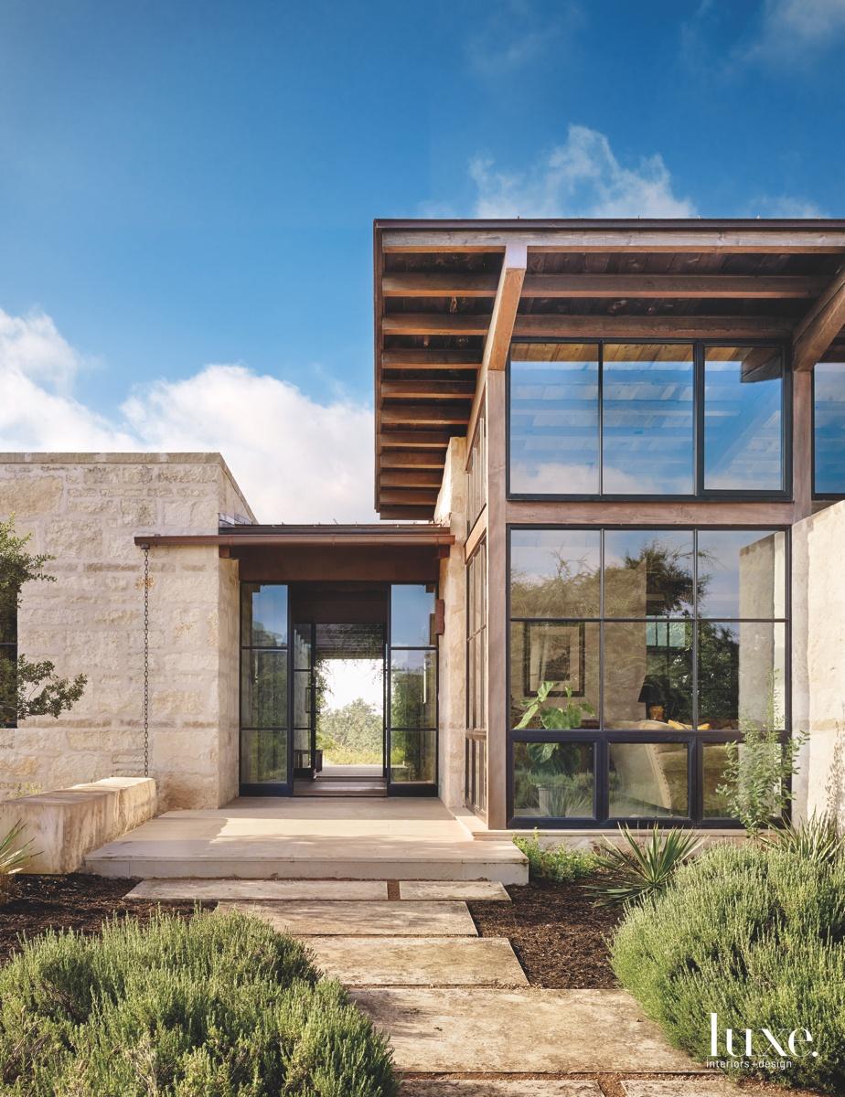 contemporary exterior entry glass door...