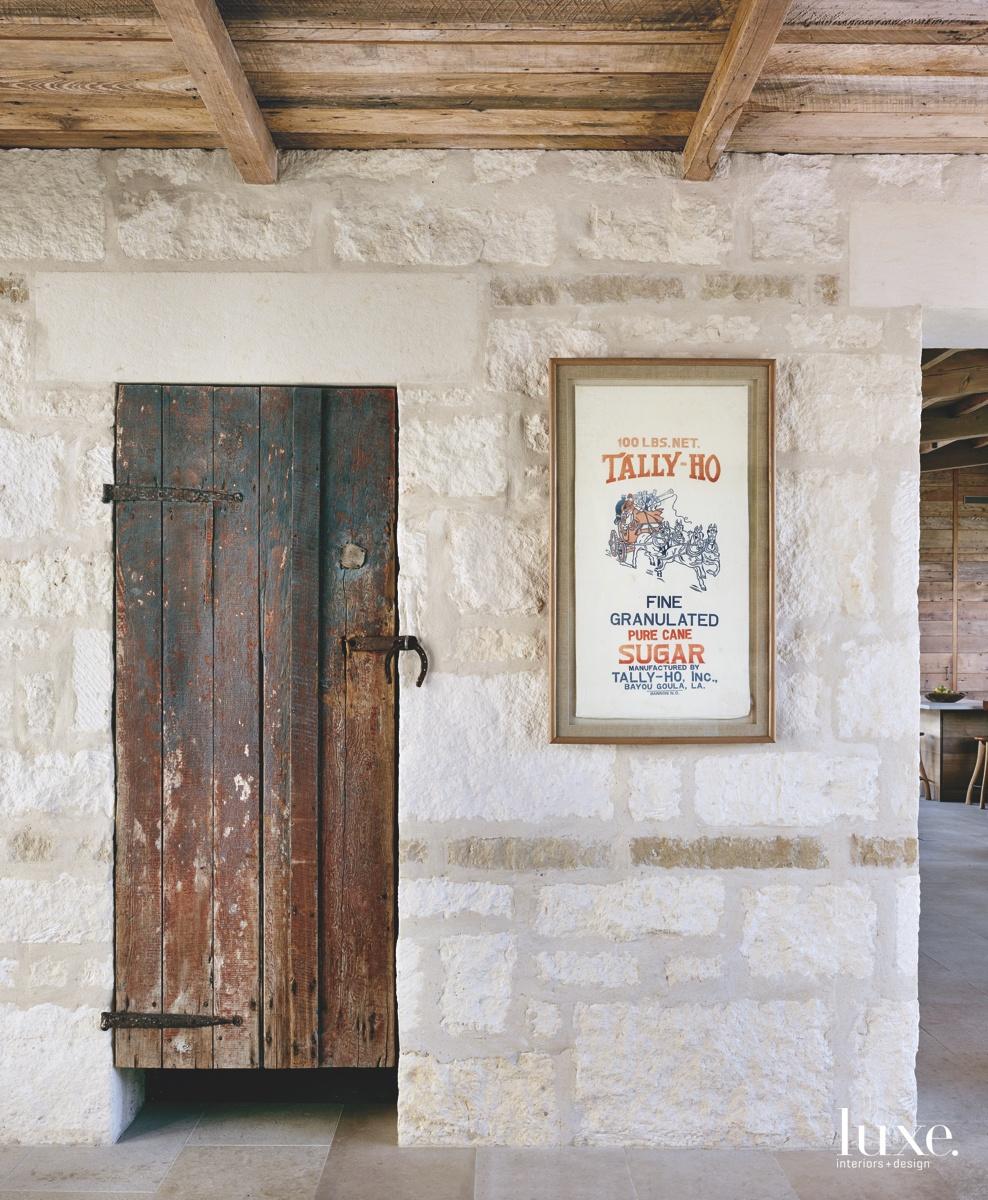 contemporary antique door limestone