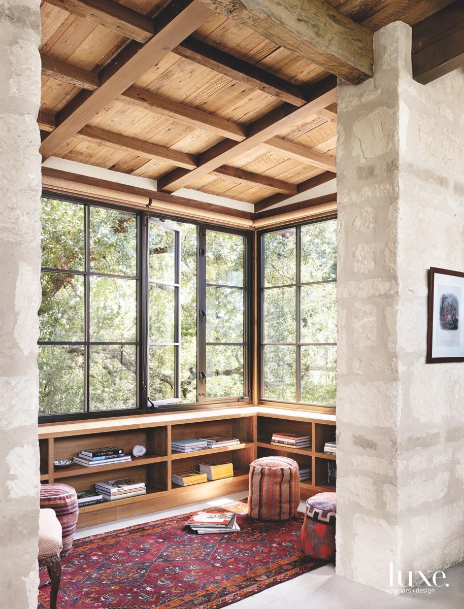 contemporary study area aluminum windows...