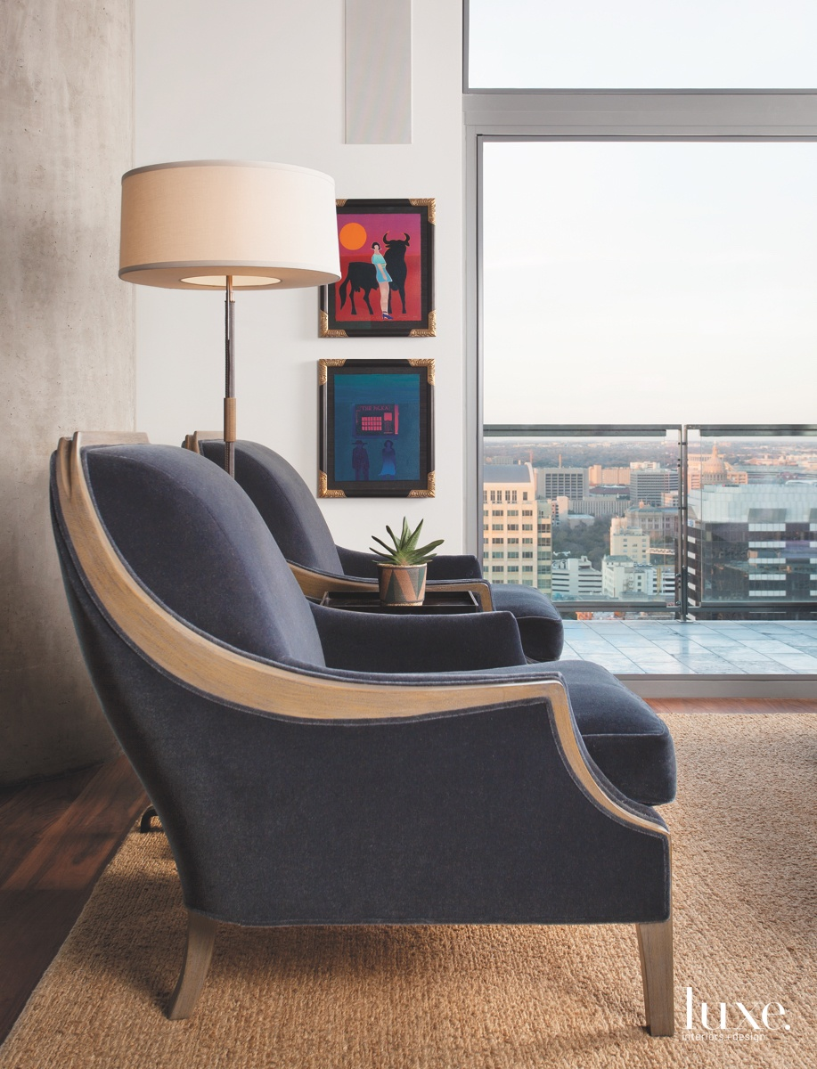 contemporary living room armchairs sitting...
