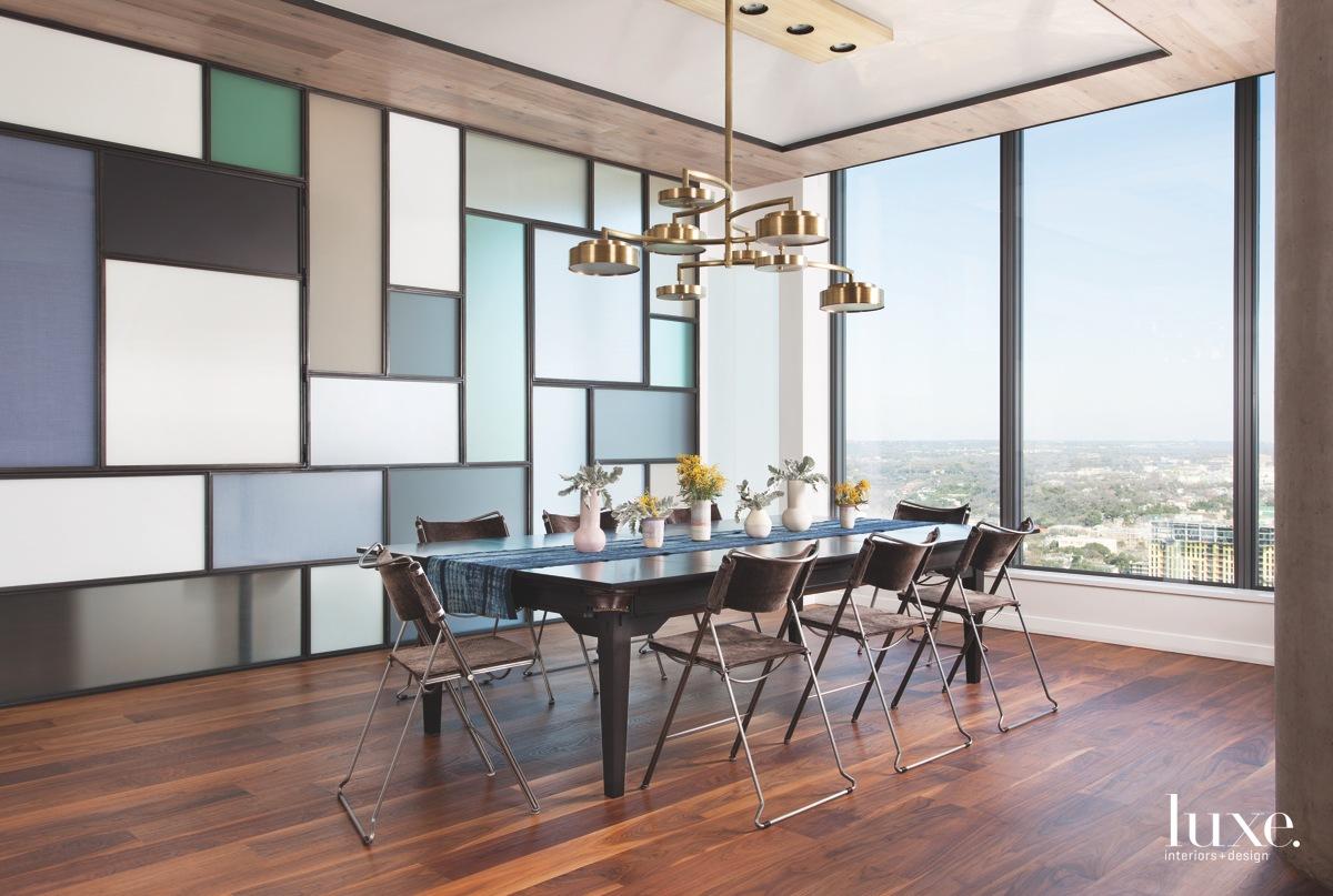 ontemporary dining room glass windows...