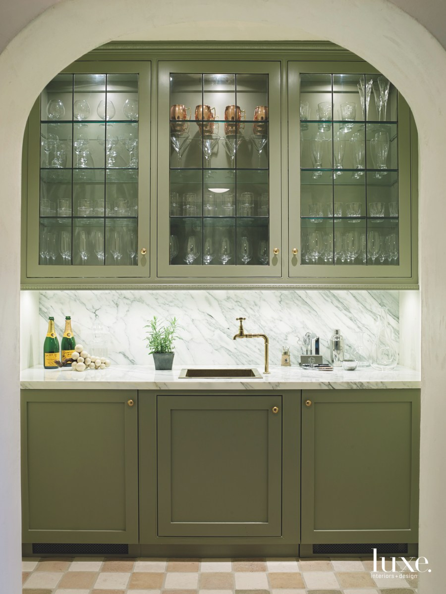 contemporary pantry glass doors and...