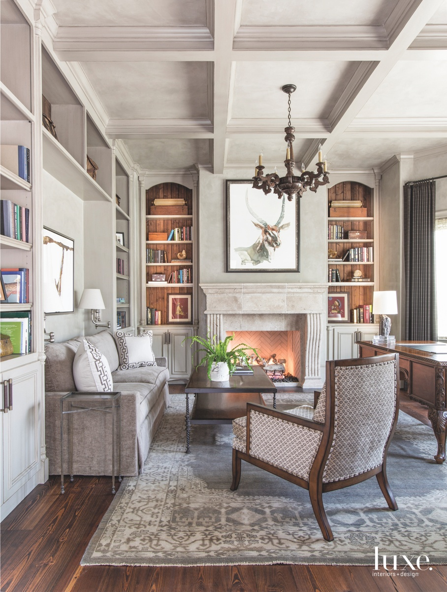 traditional neutral study sitting area...