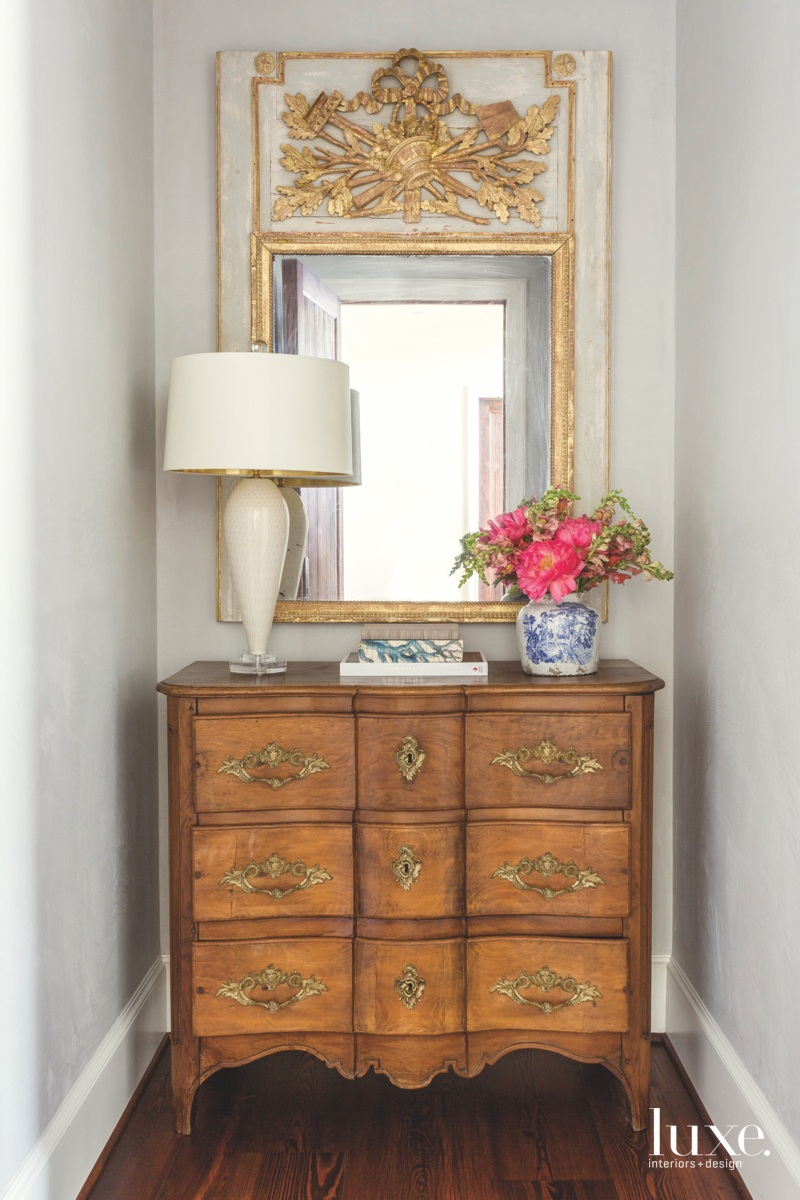 traditional bedroom antique walnut commode...
