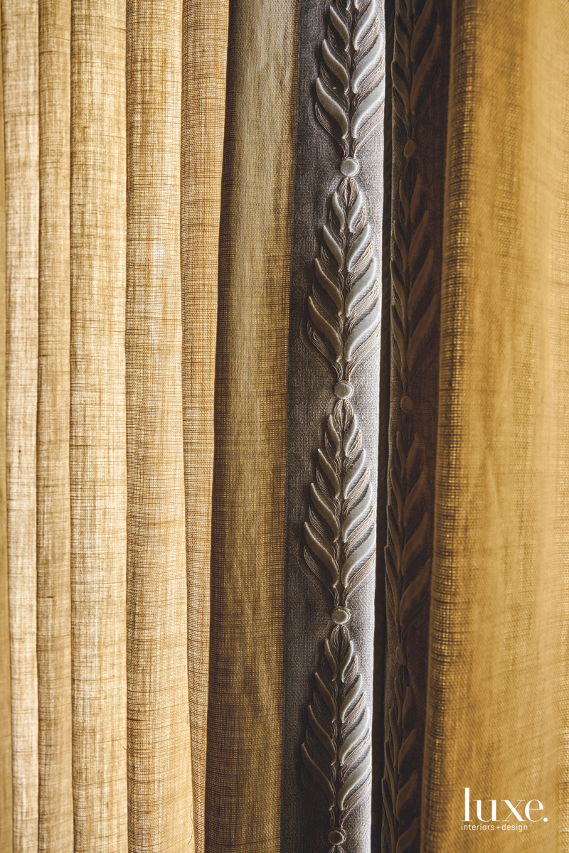 traditional bedroom material draperies