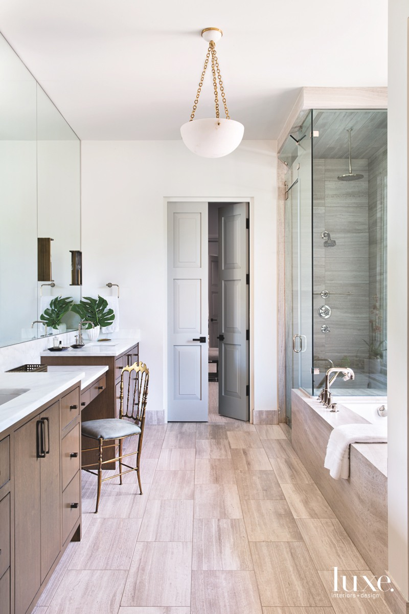 Marble flooring with a faux...