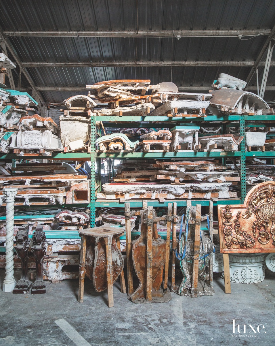 The Casci warehouse is a trove of plaster, rubber and fiberglass molds.