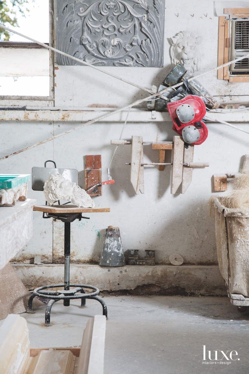 A side space in the studio, where Mark Marynick and his team experiments with new designs.