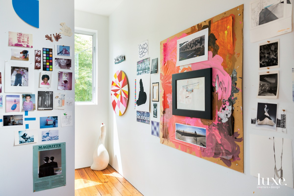 "Items of what the artist refers to as ""curiosity, affection, inspiration and admiration"" fill his studio."