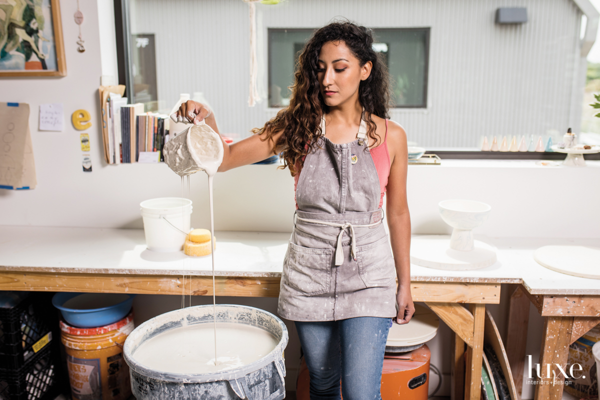 A Texas Ceramicist Dishes On Her Signature Marbling Look