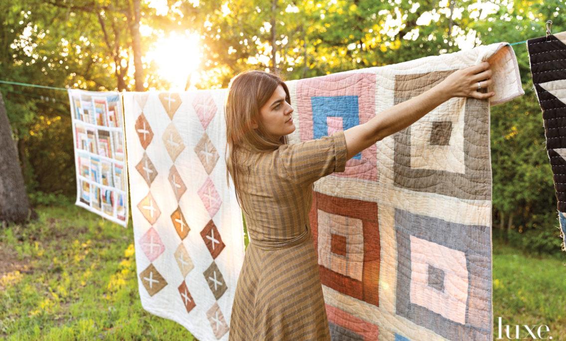 Behind An Austin Fiber Artist's Natural Heirloom Quilts