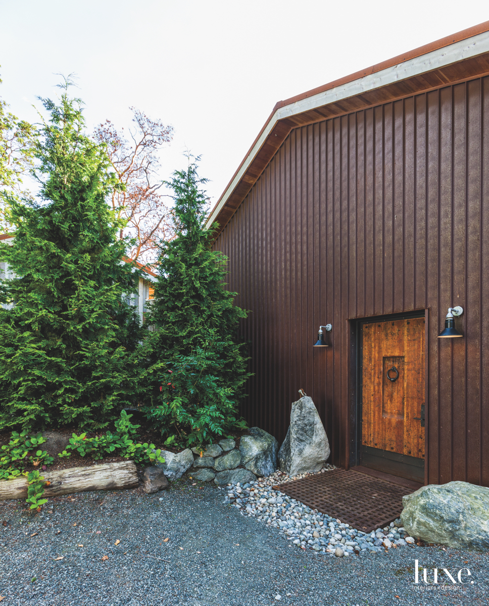 rustic exterior brown entry