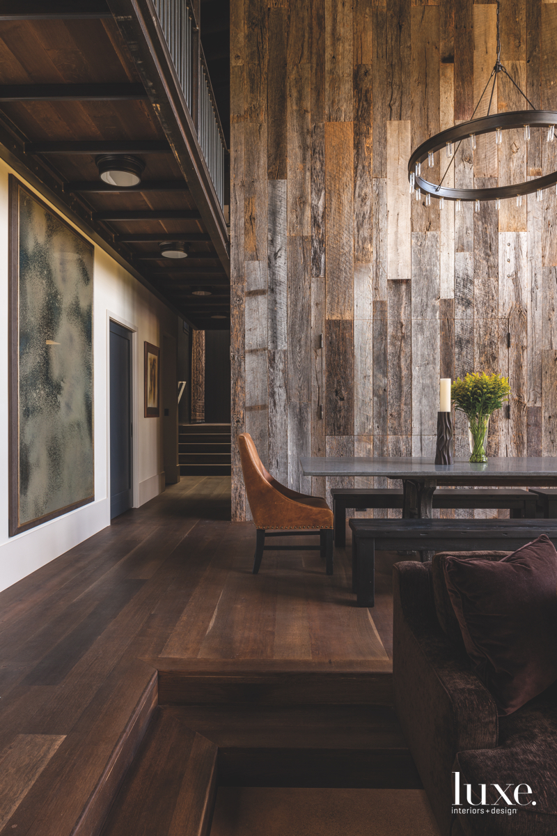rustic dining area brown wood...