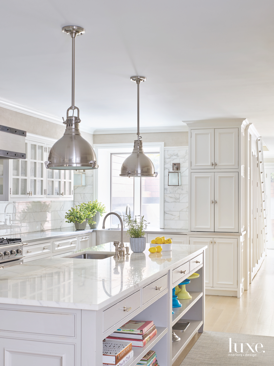 modern white kitchen cabinetry