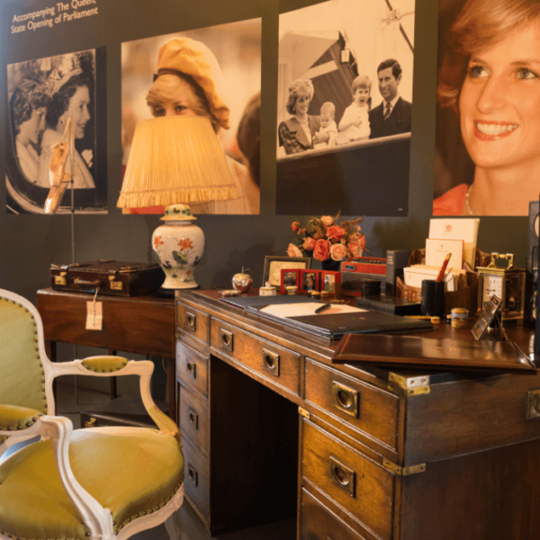Get A Rare Glimpse Of Princess Diana's Desk