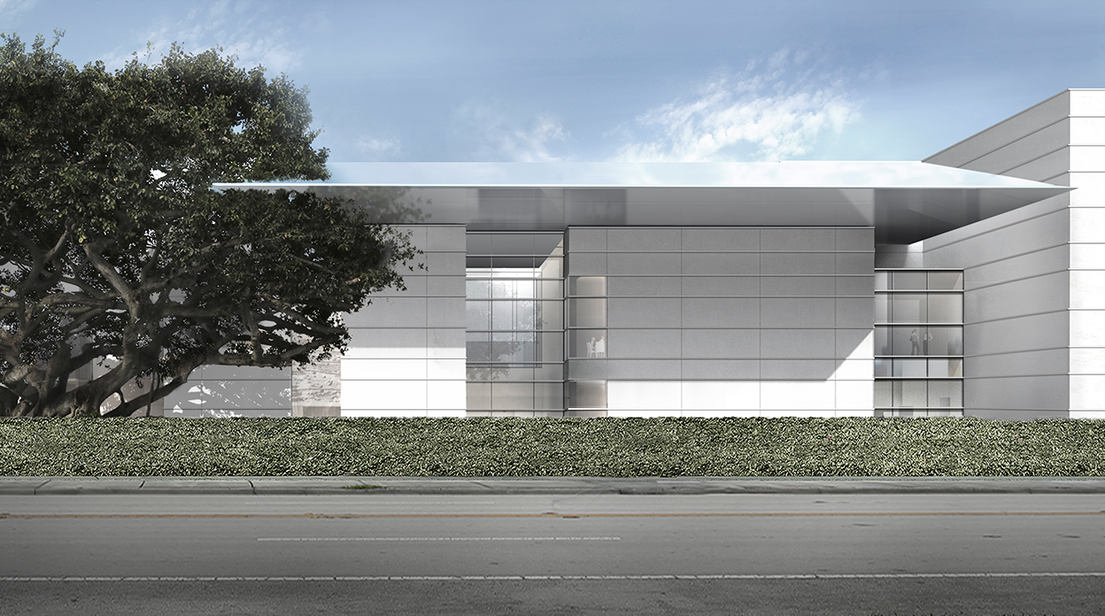 Exterior rendering of the museum's projected renovations.