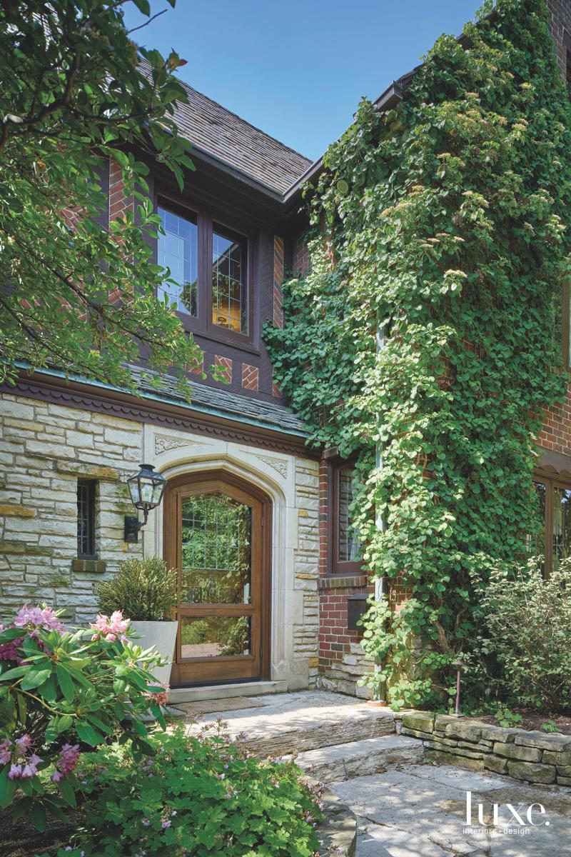 transitional exterior entry tudor