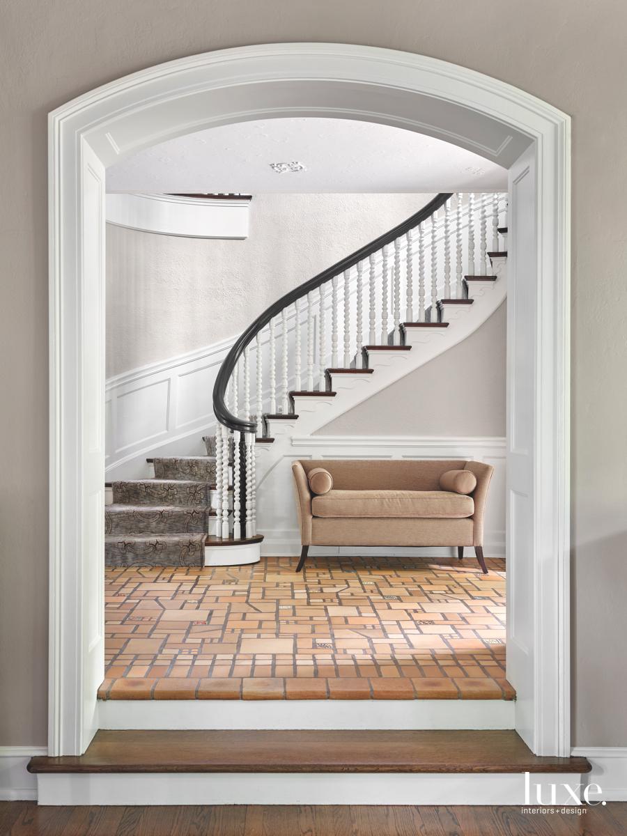transitional entry original tile floor...
