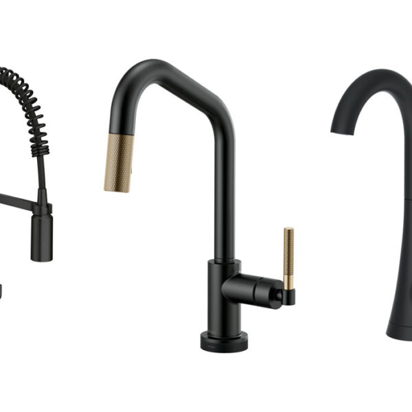 4 Dark Faucet Designs That'll Make Your Sink Pop