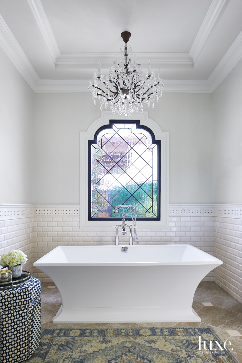 master bathroom soaking tub with...