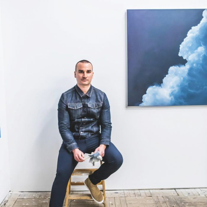 Denver artist Ian Fisher captures the dramatic nature of clouds in his oil paintings.