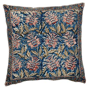 LX_COM20_Market_Trend_Pillow_PineappleKalamkari_Teal