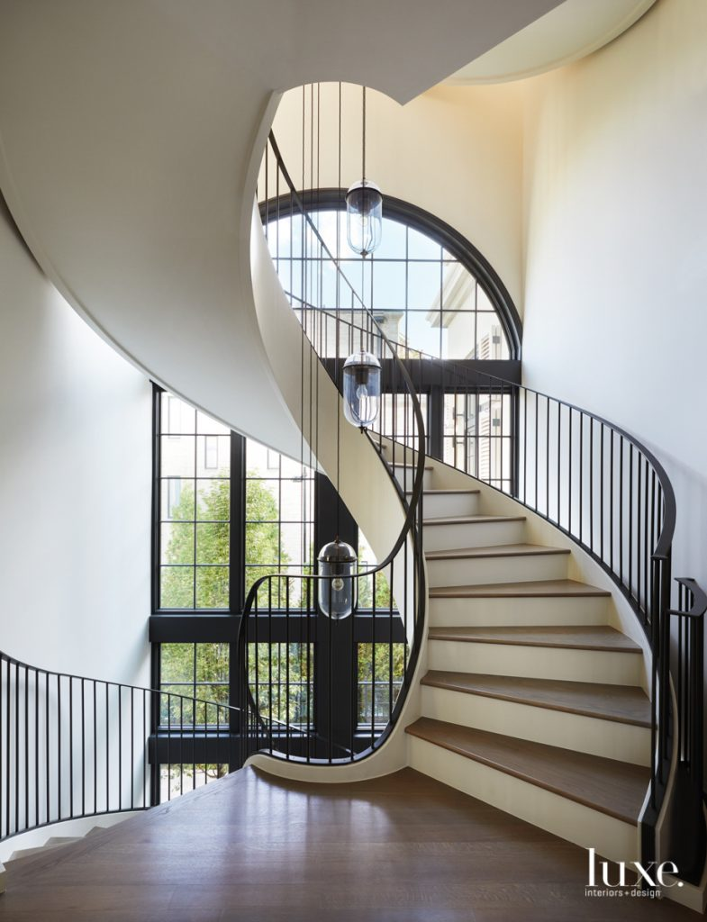 A winding staircase is a...