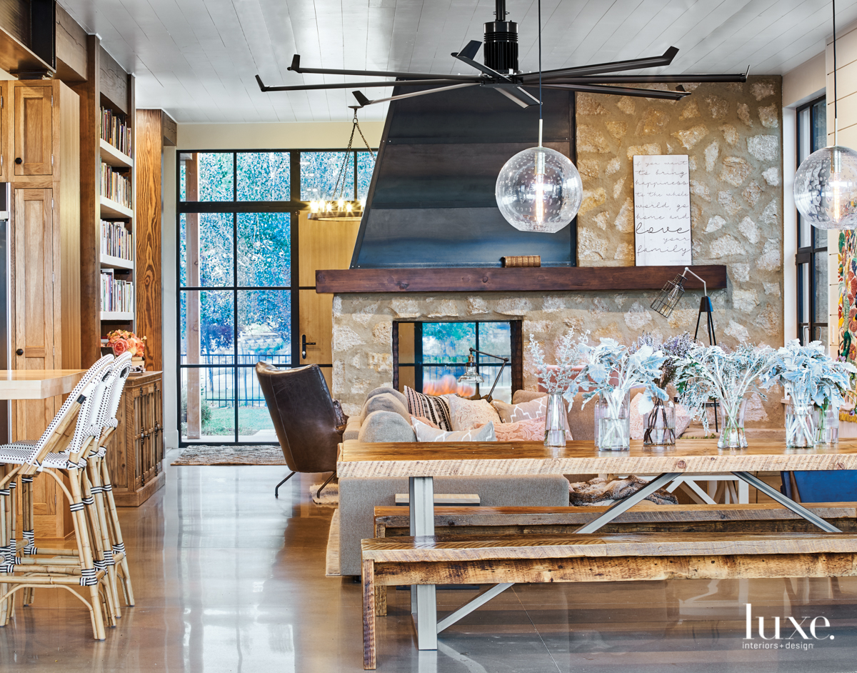 modern dining room casual neutral