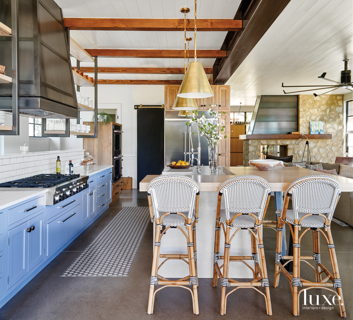 modern neutral kitchen gray cabinetry