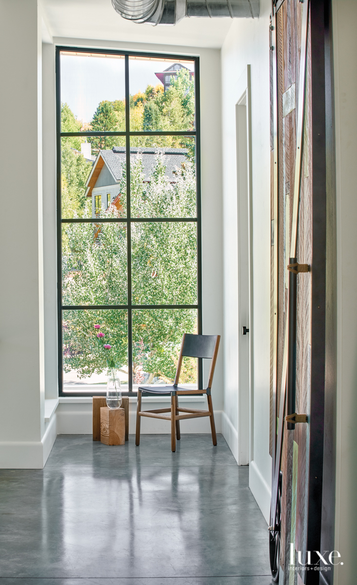 modern gray hallway