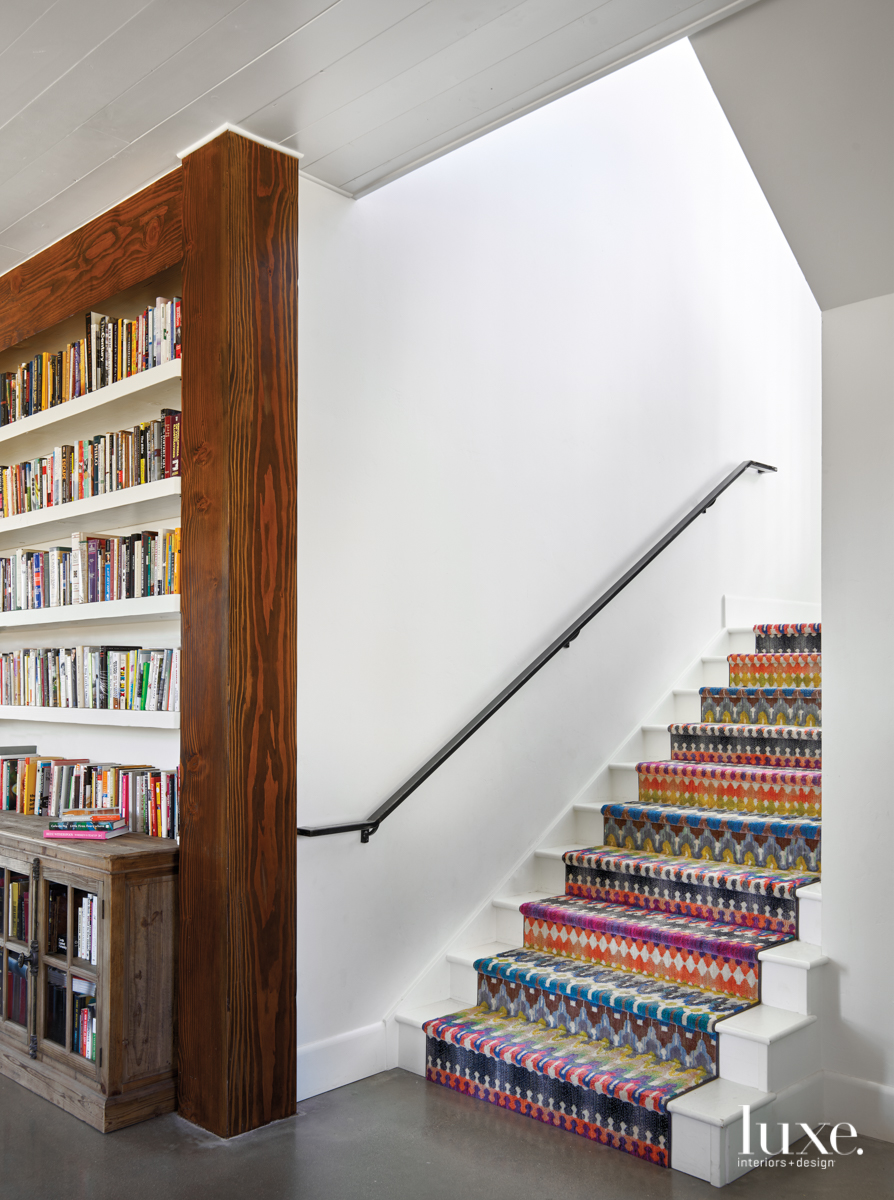 modern multi-color staircase