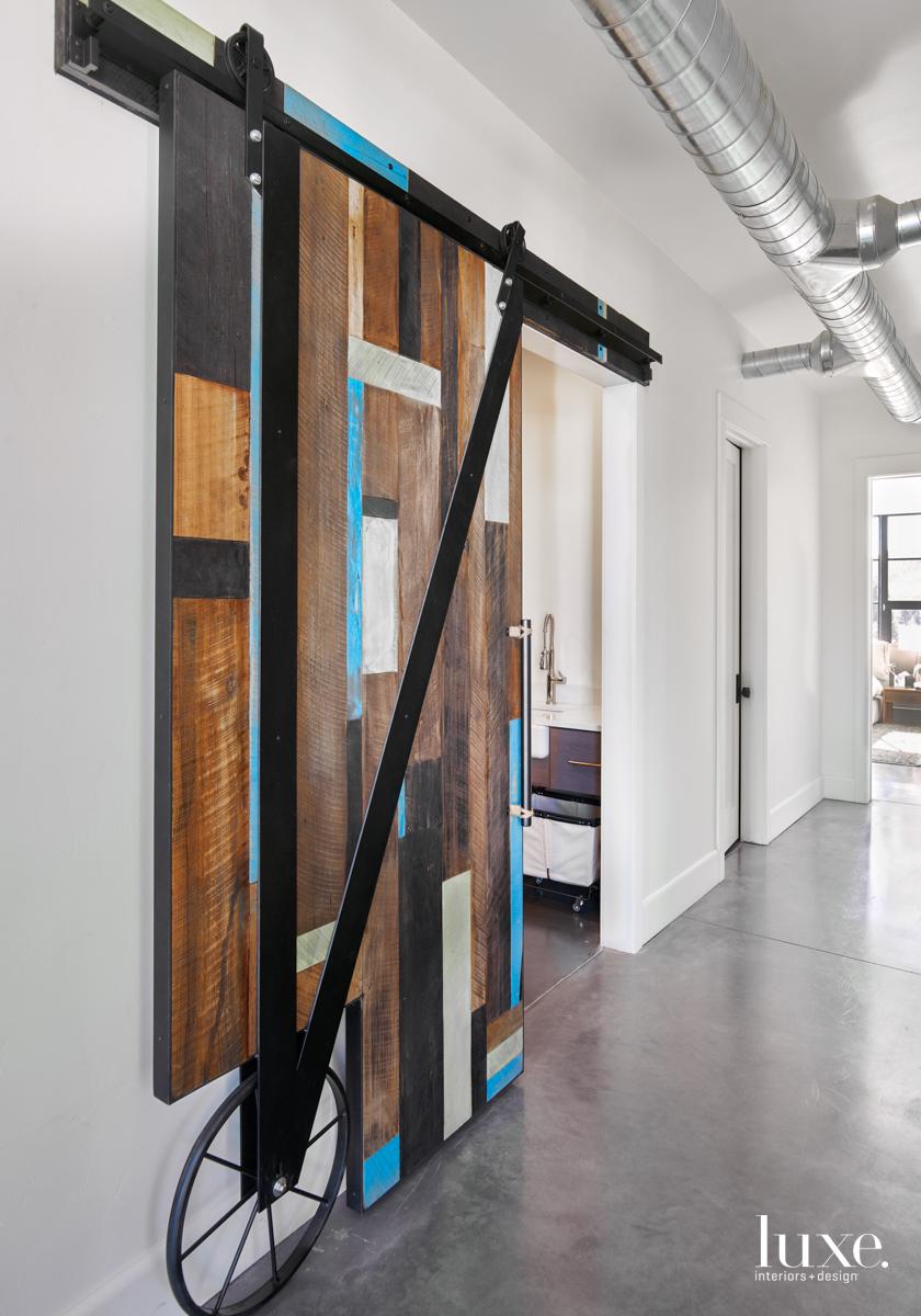 hallway sliding barn doors