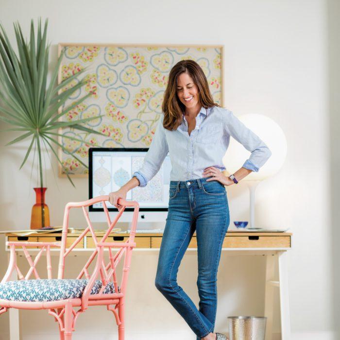 A textile designer reimagines global inspirations for her prismatic prints.