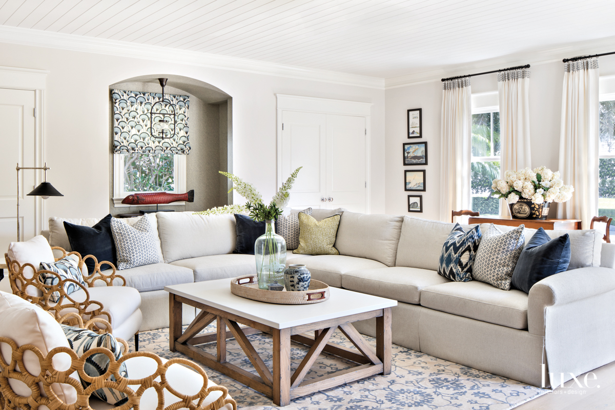 coastal white neutral living room