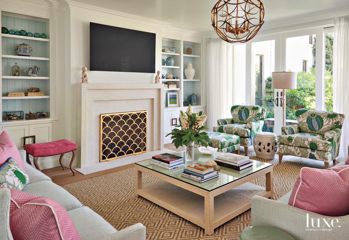 coastal living room multi-color