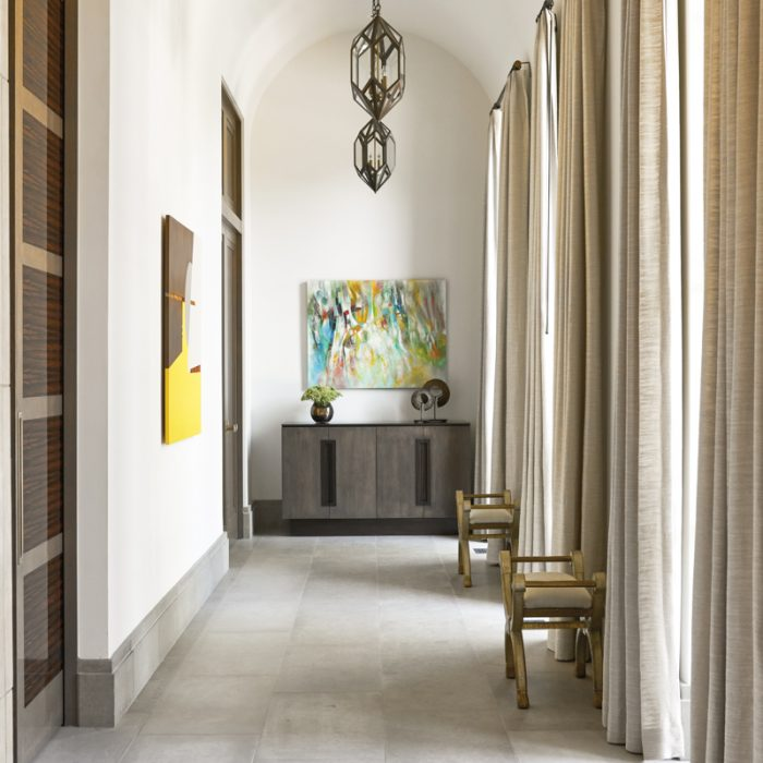 transitional neutral hallway