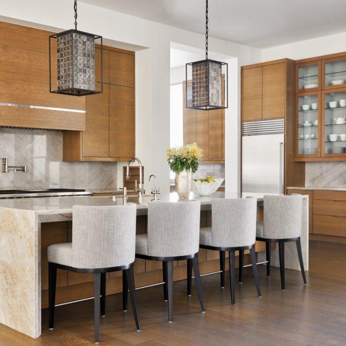 transitional neutral kitchen