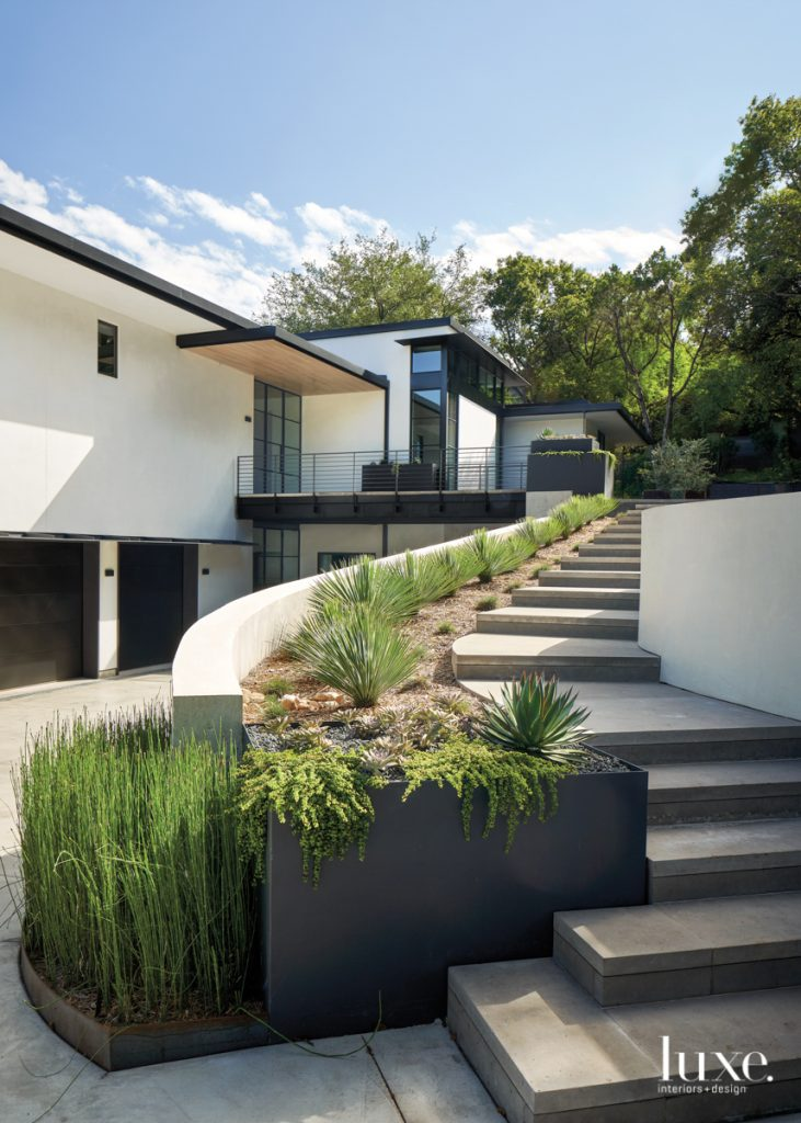 This home's exterior strikes a...