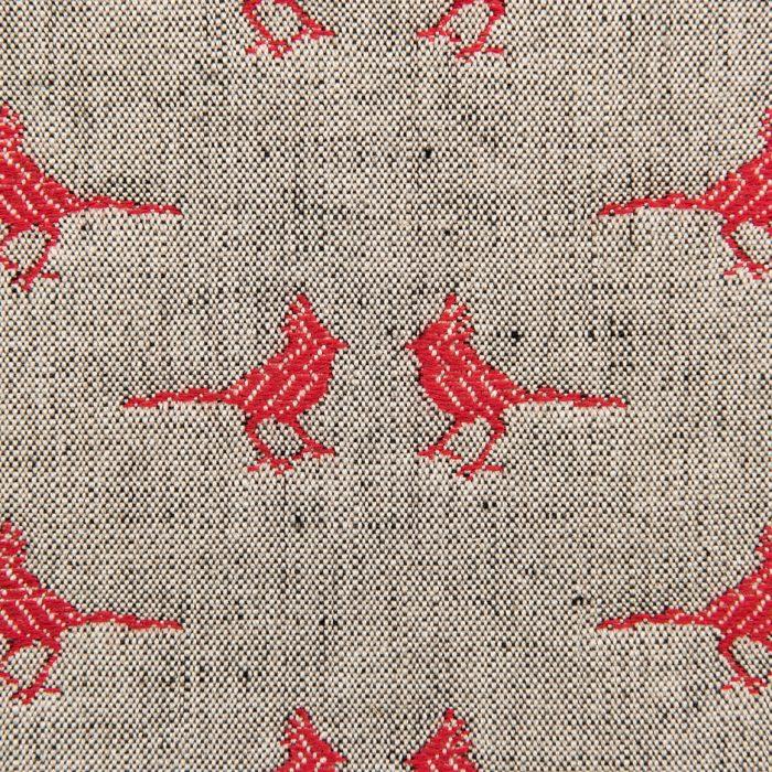 Cardinals in rustic red