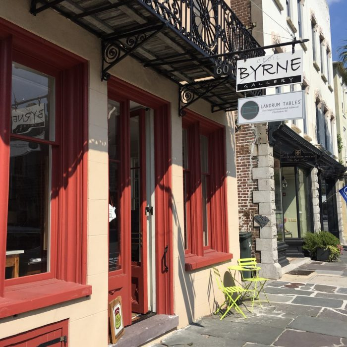 Owner and craftsman Capers Cauthen set up shop inside Cecil Byrne Gallery in Charleston.