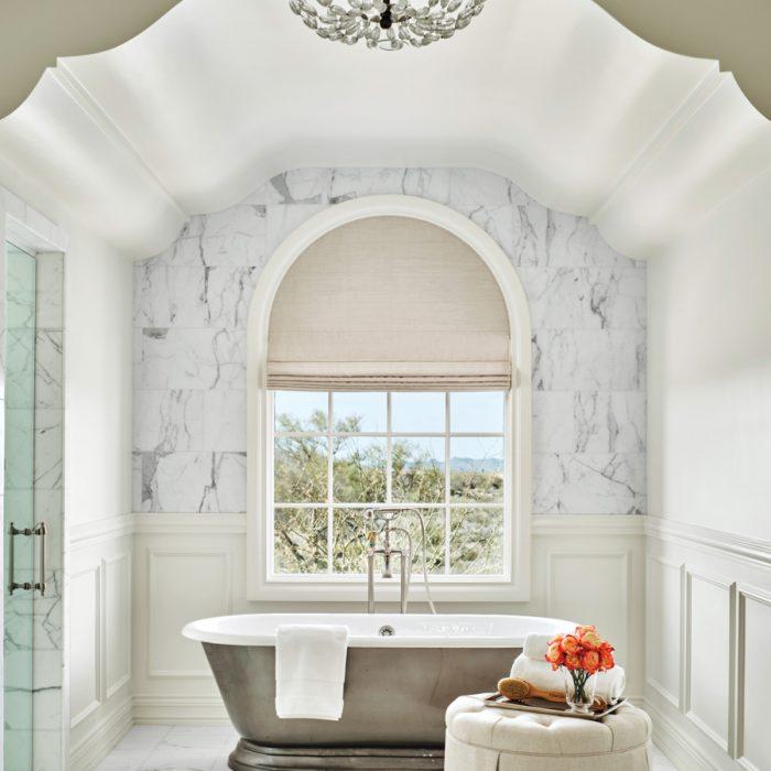 Hickman chose Calacatta gold marble...