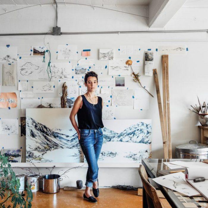 Mountain landscapes inspire Seattle artist Mya Kerner to explore ecological undercurrents in her work.